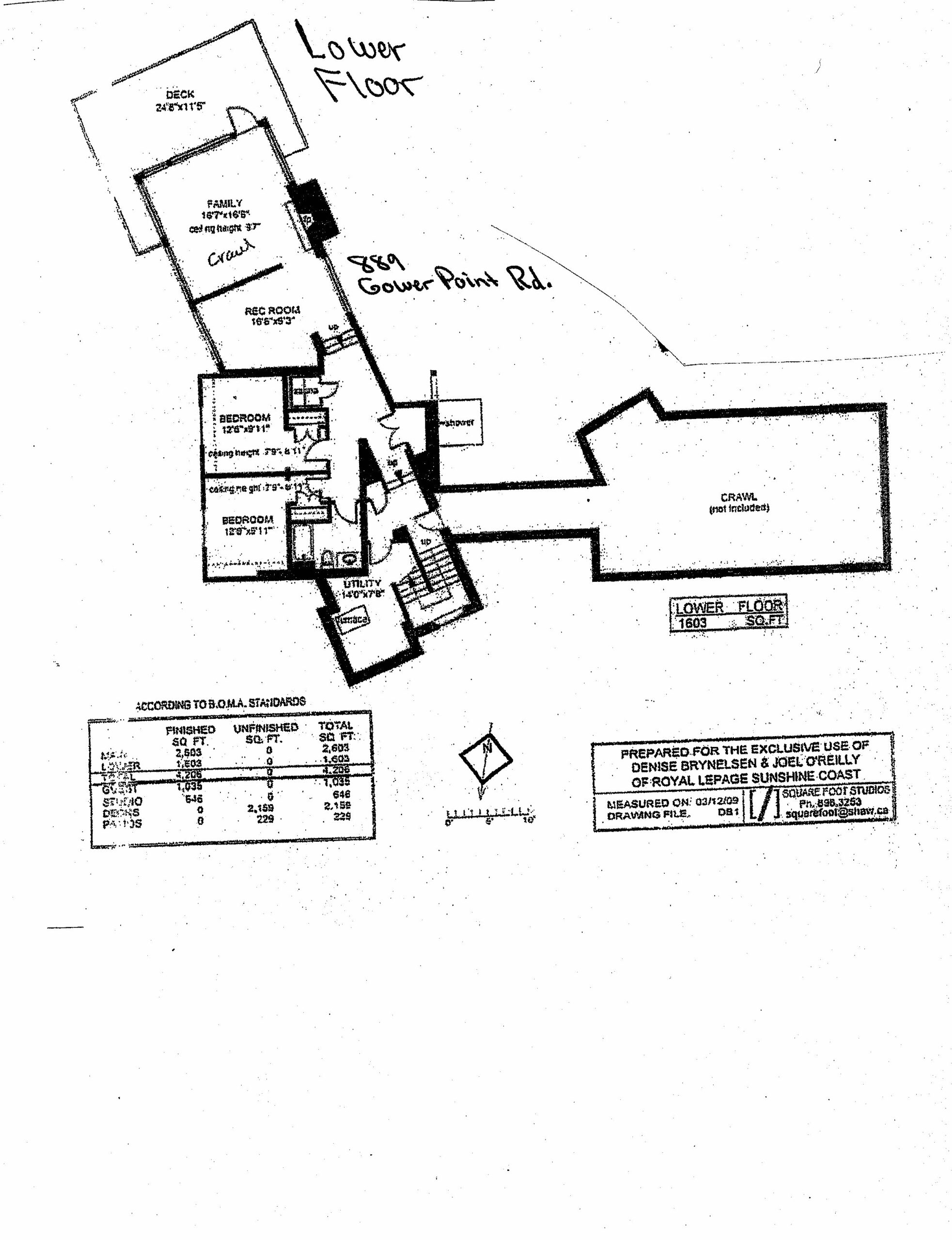 Lower Floorplan 889 Gower Point