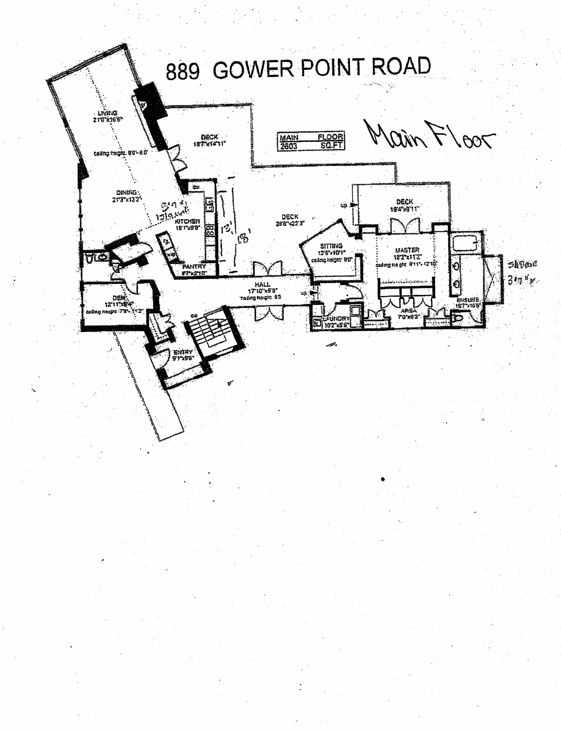 Main Floorplan 889 Gower Point